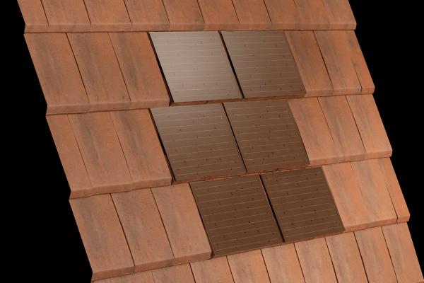 Dachówka ALPHA SOLAR Rouge i dachówka ceramiczna ALPHA 10 Rouge Nuance | Edilians-Zamarat