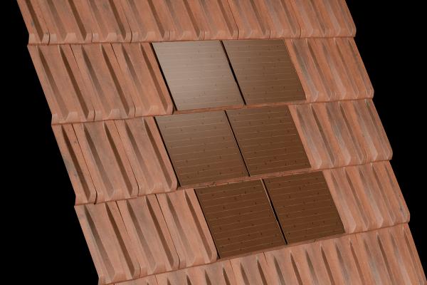Dachówka RHONA SOLAR Rouge i dachówka ceramiczna  Rhona 10 Rouge