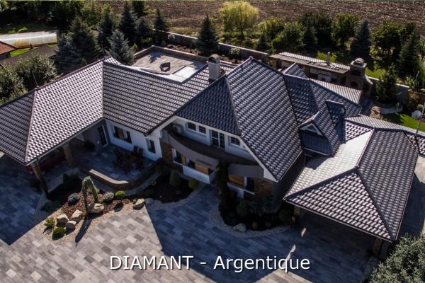 Dachówka ceramiczna Diamant - Argentique   Edilians-Zamarat