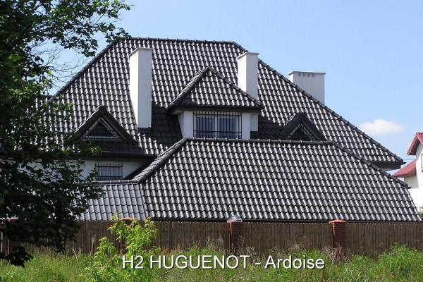 Dachówka ceramiczna H 2 Huguenot - Ardoise | Edilians-Zamarat Ardoise