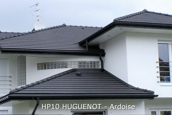 Dachówka ceramiczna HP 10 Huguenot - Ardoise   Edilians-Zamarat