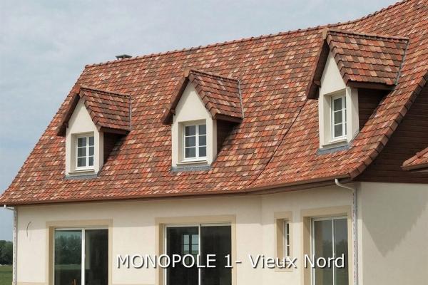 Dachówka ceramiczna MONOPOLE 1 - Vieux Nord | Edilians-Zamarat