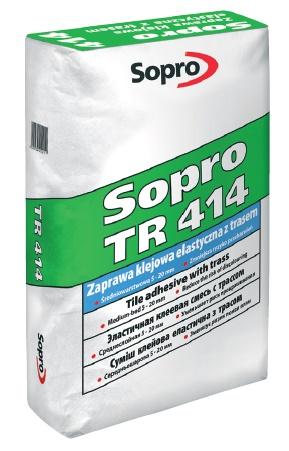 Sopro - TR 414 Zaprawa klejowa średniowarstwowa, elastyczna z trasem